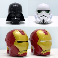 Wholesale Star War mug cups Darth Stormtrooper Iron Man water bottle D Plastic Mug Creative Christmas Drink ware Tea Cup Birthday Gift with box