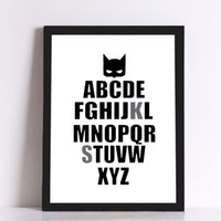 alphabet art prints - Batman alphabet Canvas Art Print Poster Wall Pictures for Home Decoration Wall Decor FA246