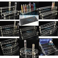 display rack - Acrylic e cig display case electronic cigarette stand shelf holder rack for ego battery vaporizer ecigs mod drip tips eliquid bottle display