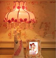 Wholesale resin romantic lighting table lamp blurred dream atmosphere table lamp as Wedding gift lovely design desk lamp