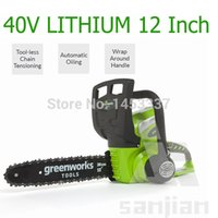 battery chain saw - 2014 New Arrival Cordless V quot Battery Powered Chainsaw Professional Wood Cutter Chain Saw Chainsaw Starter Brush Cutter Use
