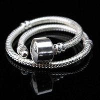 Wholesale Top quality silver plated pandora snake chains bracelets DIY accessories fit for charm bracelet Christmas gift DIY jewelry