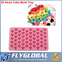 Wholesale Silicone Heart Cake Chocolate Cookies Baking Mould Ice Cube Soap Mold Tray top quality