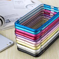 apple iphone - Aluminum Metal Hard Case Ultra Thin Slim Frame Bumper For Apple iPhone S Plus iPhone S S Galaxy S6 S5 S4 Note4 Xiaomi M4