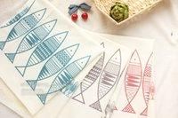 Peixes Impressão linho Patchwork Fabric Para têxteis lar cortina de tecido toalhas .Sofa frete grátis