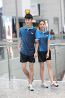 Wholesale New Butterfly T shirt Couple Table Tennis Clothes Badminton Clothing PingPong Shirt and short Men Women Tennis Suit