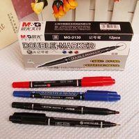 Wholesale High Quality Marker Pen Water Proof Double Marker Pen