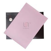 al por mayor pvc de láminas mm-Tamaño 1pcs Pink A4 de 1 mm de espesor de PVC flexible de goma magnética Imanes fácil de cortar la hoja
