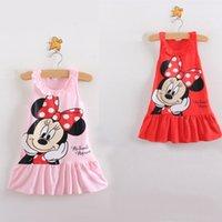 american camisoles - Hot sale Girl Minnie vest dress new princess party sweet tutu dress dance Camisole bowknot dress Colors
