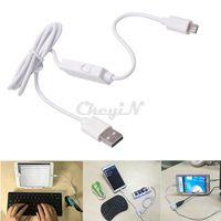 Cheap 3 Port USB2.0 Male to Female + Micro USB OTG Data Sync Charging Host Cable with USB HUB for PC Samsung Galaxy Sony DDA62W-48P