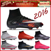 shoes soccer - Free Shippping Nike Mercurial Superfly FG CR7 soccer cleats Laser men soccer boots and football shoes most fashionable soccer