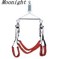 Wholesale Spinning Sex Swings - Fantasy Bondage 360 Degree Spinning Sex Swing Fetish Adults Couples Sling Swing Portable Adjustable Mobile Straps Romantic Red