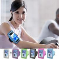 achat en gros de galaxie bande de sport de note-Band Case Sport Arm GYM Brassard Colorful Cover Pouch bracelet souple Ceinture Jogging Sac pour Samsung Galaxy Note N9100 4 Note 3 2