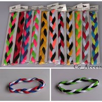 red and white rope - DHL shipping New Ropes headbands Woman Girl Baseball sports braided with Mix Colors and Size