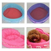 Wholesale New Fashion Soft Lace Pet Bed house For Dog Cute Cozy Dogs warm Beds With Low Price Comfortable Pet Beds FOR SALE