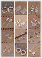 Wholesale Mix Order Dangle Chandelier jewelry Sterling Silver Plate Jewelry Drop Earings Brand New Beautif Earrings Cheap Earrings