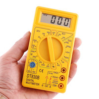 Wholesale For Sales LCD Electronic Digital Voltmeter Ammeter Multimeters AC DC Meter Tester Yellow H1762
