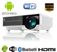 Wholesale 5000 Lumen P Home Theater Multimedia Android TV HDMI USB LCD LED Projector with retail package DHL Free