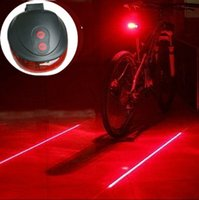 Wholesale High quality LED Laser flash mode Cycling Safety Bicycle Rear Lamp waterproof Bike Laser Tail Light Warning Lamp Flashing