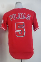 albert quality - 2015 Albert Pujols Red Cool Base Stitched Jersey Baseball Jersey Low Price And Quality Cheap Baseball Jerseys