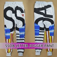 Wholesale Raisevern SSOA letter geometric printed joggers for women men girl boy sweatpant sport skinny pants long cargo trousers