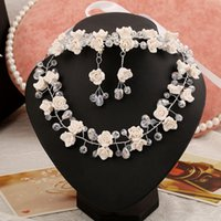 beautiful jewerly - Gorgeous Beautiful Bridal jewerly Set Necklace Earrings Hair Accessory Handmade Flower Shape pieces Hot Sales Wedding Accessory Jewelry