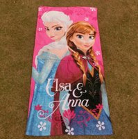 Wholesale 12pcs x60cm FROZEN towel elsa Anna Olaf children cotton beach towels cartoon towels cheap A089a
