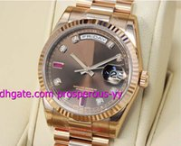 auto chocolate - Luxury Watch mm Chocolate Diamond Ruby Dial Everose Gold CHODRP Men s Watch Watches Wristwatch