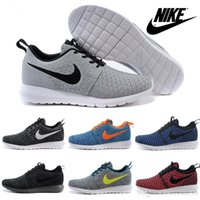 flat light - Nike RosheRun Flyknit New Running Shoes For Men Original Light Fly Line Mens Sports Shoes Brands Trainers Outdoor