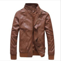 Wholesale autumn winter New fashion PU mens Leather jacket mans outerwear jackets outdoor clothing biker jacket mens