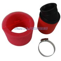 Wholesale 45mm Red FOAM AIR FILTER CARB XR50 CRF50 XR CRF PIT BIKE muleshoe double layer air filter wd motorcycle atv little monkey