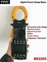 active power meters - Digital Power Clamp Meter HYELEC MS2205 Phase AC RMS Active Power Factor Passive Frequency Harmonic Test