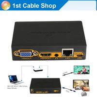 Cheap HDMI wifi transmitter wireless wifi PC to HDMI VGA HDTV converter transmitter over WIFI ethernet cable