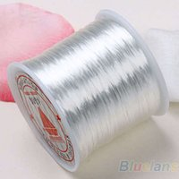Wholesale Hot Yards White Stretchy Elastic Crystal String Cord Thread For Jewelry Making HN