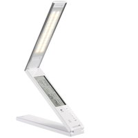 Wholesale 2014 New arrival Portable LED power bank charger battery backup pack desk Lamp table lamp with Bracket Flexible dual USB port