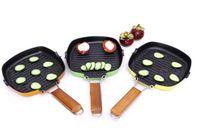 Wholesale 20cm Cookware Kitchen Folding Non stick Aluminum Alloy steak Egg Fry Pan Suite For Gas Grill ans Induction