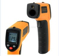 Wholesale Non Contact Laser LCD Display Digital Infrared Thermometer Temperature Meter Gun Point Degree termometro infravermelho Free shiping