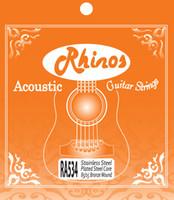 Wholesale Rhinos RA534L Acoustic Guitar String Hexagonal Steel Core Bronze Wound Light Tension