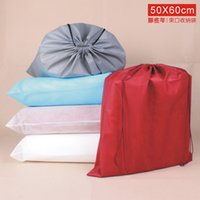 bedding clothes - Portable x60CM Prevent Dust Non Woven Thick Stuff Sacks Short Boots Beam Port Drawstring Travel Pouch Groceries Thick Bag