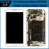 Cheap White Grey Color LCD Screens Panels Best For Samsung Galaxy Note3 LCD