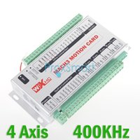 Wholesale Upgrade Mach3 USB Axis CNC Motion Control Card Breakout Board KHz Support Windows CF