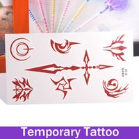 beauty hands charmed - Beauty Removable Waterproof Temporary Tattoo Tattoo Body Art Sticker Japan Command Good Luck Charm Makeup