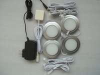 puck led light - Recessed installation DC v W LED Puck Cabinet Light LED spotlight amp pc led Milky