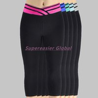wholesale yoga pants - 3pcs Brand New Women Fitness Yoga Pants Stretched Gym Tights V Waist Sexy Leggings Workout Casual Trousers Soft Cozy Athletic Apparel