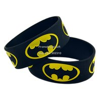 Jelly, Glow band batman - quot Wide Band BATMAN Silicon Bracelet Wear This Latex Free Wristband To Support The One You Love