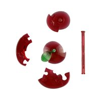 Wholesale Creative Children Toy Game Enjoyable and Challenging D Crystal Puzzle Red Apple Development of Intelligence