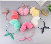 Wholesale Baby Kids girl Plush earmuffs Cute rabbit model earflap Princess warm earmuff Colors Good quality EZ001