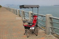 beach chairs backpack - Portable Folding Backpack Beach Chair With Sunshade Outdoor Foldable Canopy Fishing Chair Folding Awning Chair for Fishing