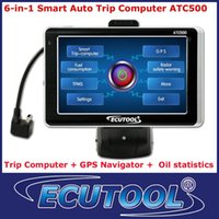 Wholesale 2013 IN MultiFunctional Car Smart Trip Computer ATC500 GPS Navigation OBD OBDii DTC Reader with Color Touch Screen