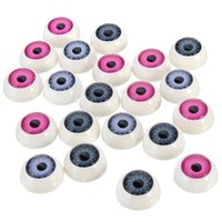 Wholesale High Quality pairs Half Round Doll Bear Craft Plastic Eye Mixed Color Eyes mm order lt no track